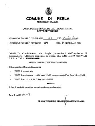 COMUNE DI FERLA