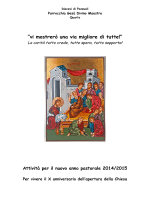 Vita Pastorale - Parrocchia Gesù Divino Maestro