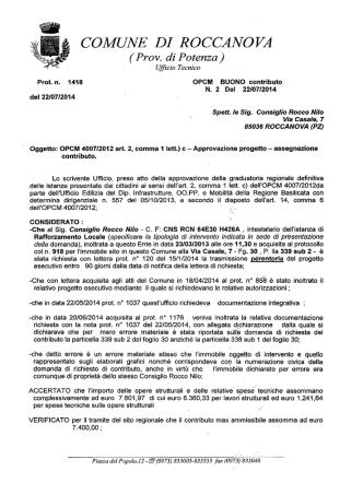 autorizzazione-buono contributo opcm 4007 ditta consiglio rocco nilo