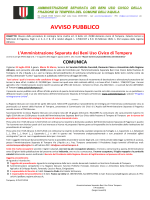 AVVISO RIAVVIO PROCEDURA DI REINTEGRA