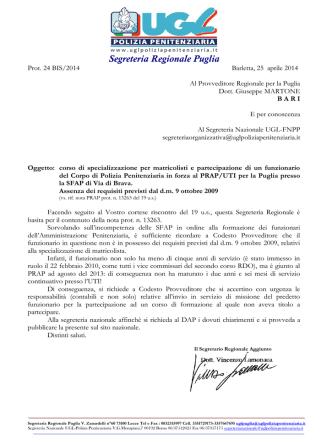 2014 REPLICA Specializzazione matricolisti e funzionario prap