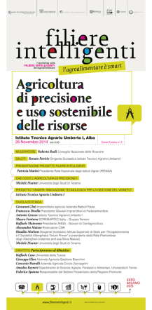Agricoltura di precisione e uso sostenibile delle risorse