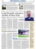Louis Brunelli, vulcanico «tirolés» di New York