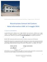 Nota Informativa USRC al 2 maggio 2014