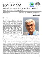 NOTIZIARIO - Unione Bolognese Naturalisti
