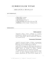 Curricula Biollo Arianna - Gazzetta Amministrativa