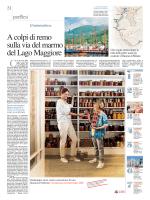 A colpi di remo sulla via del marmo del Lago Maggiore