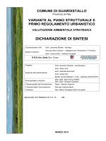 Dichiarazione di Sintesi - Comune di Guardistallo