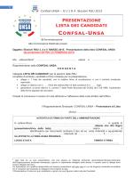 modulistica rsu 2015 - Federazione Confsal Unsa