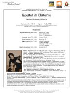 """Program - Accademia Musicale """"Studio Musica"""""""