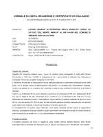 VERBALE DI VISITA, RELAZIONE E CERTIFICATO DI COLLAUDO