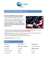 INTERNSHIP PROFESSIONALE - USA Settori - HRC