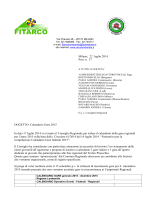 Calendario gare 2015 - FITArco, Comitato Regionale Lombardia