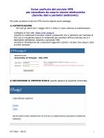 Come usufruire del servizio VPN per consultare