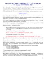 Regolamento Concorso Fermo 2014