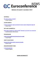 Edizione di lunedì 3 novembre 2014
