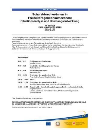 Avviso Fachtagung - Forum Prävention
