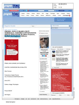 22.06.14 - Paperblog - Bollati Boringhieri Editore