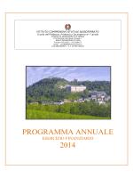 PROGRAMMA ANNUALE 2014 - Istituto Comprensivo Sassoferrato