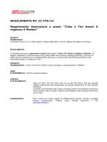 REGOLAMENTO Rif. CC 478/14 Regolamento