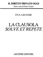 LA CLAUSOLA SOLVE ETREPETE