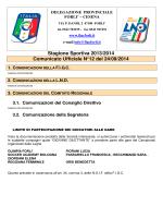 Stagione Sportiva 2013/2014 Comunicato Ufficiale N°12