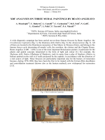 Mazzinghi et al, XRF ANALYSES ON THREE MURAL PAINTINGS