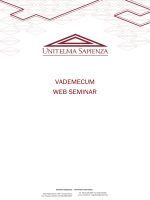 vademecum web seminar - Università Telematica Unitelma Sapienza