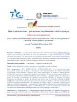 Web e informazione - TIA Formazione Internazionale