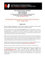 XXI Rassegna Internazionale di Teatro Classico Scolastico 24