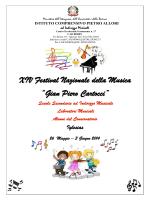 """XIV Festival Nazionale della Musica """"Gian Piero Cartocci"""""""