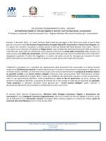 XIV SESSIONE PROGRAMMATICA CNCU – REGIONI