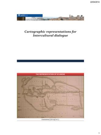 Cartographic representations for Intercultural dialogue