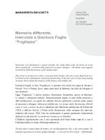 Memoria differente. Intervista a Gianluca Foglia - E