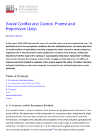 Social Conflict and Control, Protest and Repression (Italy) | 1914