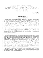 Relazione semestrale stato avanzamento Prot. Intesa PATOM finale
