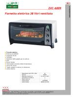 Fornetto elettrico 38 litri ventilato ZXC-6009