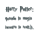 Tesina di maturità su Harry Potter