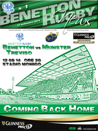 12 settembre 2014 - Benetton Rugby Treviso
