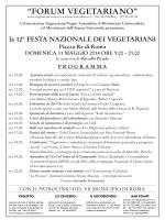 il programma pdf della prossima festa dei vegetariani