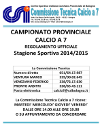 regolamento del campionato 2014/2015