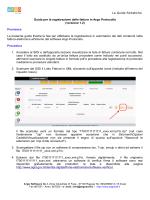 Le Guide Sintetiche Guida per la registrazione delle