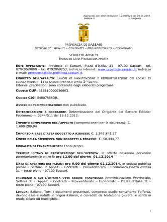 Bando [file] - Regione Autonoma della Sardegna