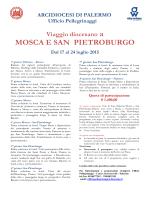 MOSCA E SAN PIETROBURGO - Arcidiocesi di Palermo