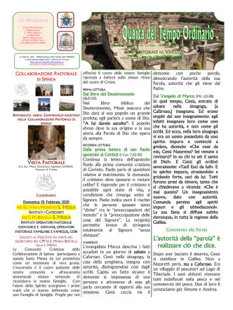 Campana 1 Febbraio 2015 - Parrocchia di Santa Bertilla