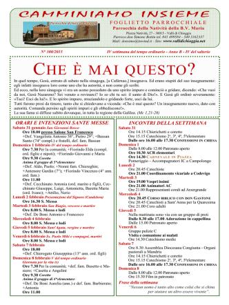 CHE È MAI QUESTO - Parrocchia di Valli di Chioggia