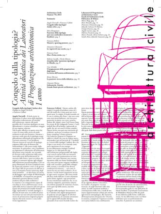 Attività didattica dei Laboratori di Progettazione architettonica I anno