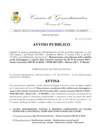 AVVISO [file ] - Regione Autonoma della Sardegna
