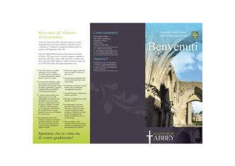 Benvenuti - Glastonbury Abbey