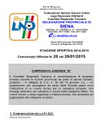 SIENA - Figc - Comitato Regionale Toscana